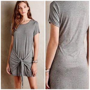 Anthropologie Dolan Tied T Shirt Dress Gray M